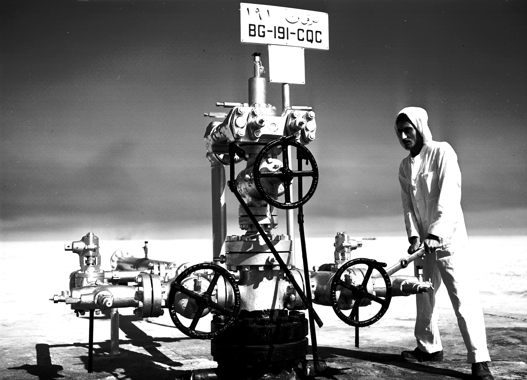 Wellhead maintenance on BG-191, 1961.jpg
