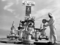 Wellhead maintenance on BG 56, 1959.jpg